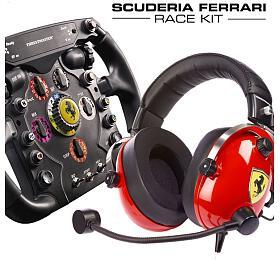 Thrustmaster SCUDERIA Ferrari Race kit, Sada Volantu Ferrari F1Add-On+Sluchatek T.Racing Ferrari
