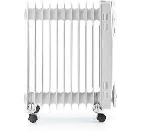 Nedis HTOI10EWT11 - Přenosný Olejový Radiátor | 2500 W | Bílá barva