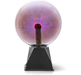 Nedis FUDI215BK -Plazmová Světelná Koule |10 W| 3500 lm| Sklo |20 cm