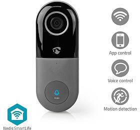 Nedis WIFICDP10GY - Wi-Fi Smart Domovní Zvonek s Kamerou | Ovládání Pomocí Aplikace | microSD Slot | HD 720p