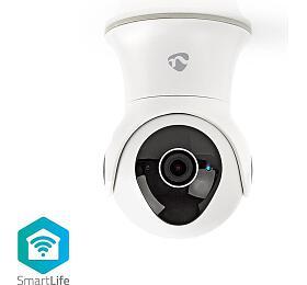 Nedis WIFICO20CWT - WiFi Chytrá IP Kamera | Otáčení / Náklon | Full HD 1080p | Venkovní | Vodotěsný