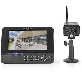 Nedis CSWL120CBK -Digitální Bezdrátová Sledovací Sada |2,4 GHz |1x Fotoaparát