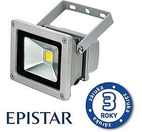LED reflektor venkovní 10W/800lm EPISTAR, MCOB, AC 230V, STUDENÁ, šedý TIPA