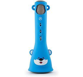 Technaxx KidsFun bluetooth karaoke mikrofon, 1x3W repro, modrá