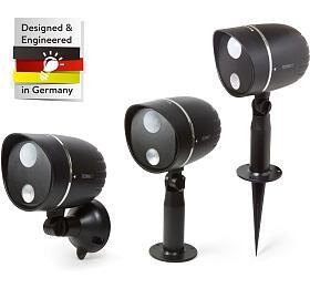 Technaxx Venkovní LED osvětlení sdetekcí pohybu PIR, napájení nabaterie, černá