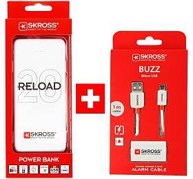 SKROSS PROMO powerbanka Reload 20+ Alarm USB kabel