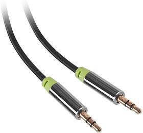 GoGEN Jack 3,5mm, 5m, pozlacené konektory černý
