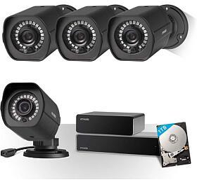 ZMODO ZS-2004-B-1TB - 8CH kamerový systém NVR, 1TB HDD, 4x1080P IR kamery