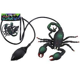 Škorpion skákací plast 12cm vsáčku
