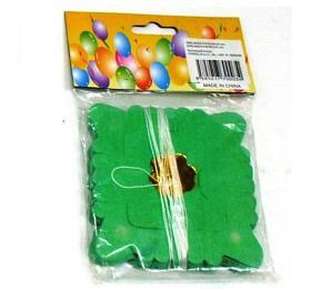 Girlanda papírová malý čtverec 4mv sáčku karneval