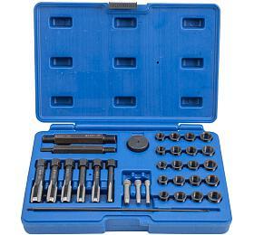 Sada naopravu závitů žhavicích svíček M8x1, M10x1, M10x1.25, M12x1.25, 33kusů QUATROS