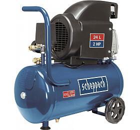 Scheppach HC26, olejový kompresor 8bar sevzdušníkem 24l