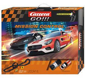"Autodráha Carrera GO!!! 62465 ""Mission Control"" 6,2m v krabici 60x50x10cm"