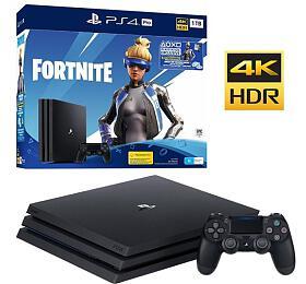Sony PS4 Pro 1TB černá +Fortnite