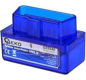 Autodiagnostika ELM 327 bluetooth modrá, Android GEKO