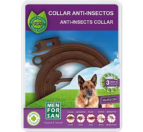 Menforsan Přírodní antiparazitní obojek pro psy odpuzující klíšťata ablechy 60cm