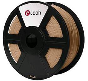 Tisková struna C-TECH, PLA, 1,75mm, 1kg, dřevo