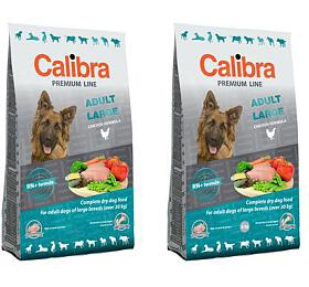 Calibra Dog Premium Line Adult Large 12kg + Calibra Dog Premium Line Adult Large 3kg