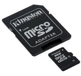 Kingston paměťová karta 8GB micro SDHC CL4