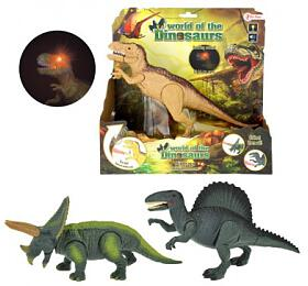 Dinosaurus chodící plast 25cm nabaterie sezvukem sesvětlem asst 3druhy vkra