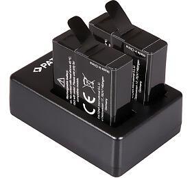 PATONA sada pro digitální kameru Dual GoPro Hero 5/6/7 nabíječka +2x baterie 1250mAh USB