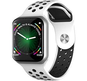 """IMMAX chytré hodinky SW13/ 1.3"""" dotykový TFT LCD/ BT/ IP67/ komp. sAndroid 2.3 /iOS 4.0 avyšší/ CZapp/ bílo-stříbrné"""