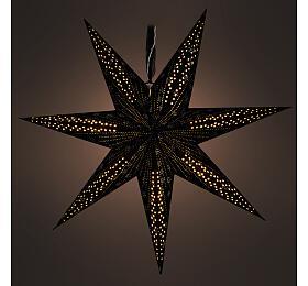 Retlux RXL 342 hvězda černá 10LED WW