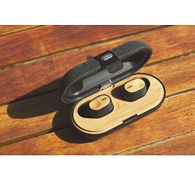 MARLEY Liberate Air -Signature Black, bezdrátové špunty douší snabíjecím pouzdrem