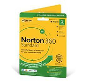 Norton 360 Standard 2019 |1 Zařízení |PC, Mac amobilní zařízení |12 měsíců |10GB ESD