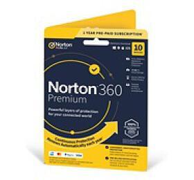 Norton 360 Premium 2019 |10 Zařízení |PC, Mac amobilní zařízení |12 měsíců |75GB