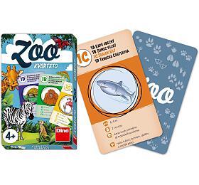 Kvarteto ZOO společenská hra karty 32ks vpapírové krabičce 7x11x1cm