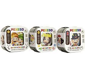 Pexeso 3ks společenská hra vkrabičce 8x21x4cm Hmaťák