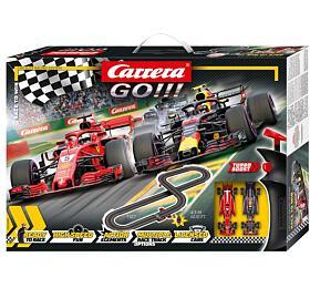 Autodráha Carrera GO!!! 62483 Race toWin 4,3m +2 formule vkrabici 58x40x8cm
