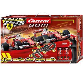 Autodráha Carrera GO!!! 62505 Ferrari Race Spirit 5,3m +2 formule vkrabici 58x40x10cm