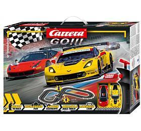 Autodráha Carrera GO!!! 62490 GTShowdown 3,6m +2 formule vkrabici 58x40x8cm