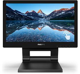 """Philips LCD 162B9T 16"""" 16:4 TNTouch/1366x768@60Hz/20M:1/4ms/220 cd/m2/VGA/DVI/HDMI/DP/2xUSB/VESA/Repro"""