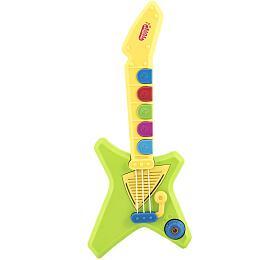 Kytara plast 42cm nabaterie sezvukem sesvětlem vkrabici 47x23x7cm