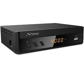 STRONG DVB-T/T2/S2 COMBO přijímač SRT 8221/ Full HD/ H.265/HEVC/ PVR/ EPG/ USB/ HDMI/ LAN/ SCART/ černý
