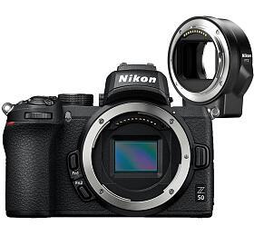 Nikon Z50 +FTZ adaptér -systémový fotoaparát