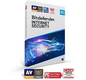 Bitdefender Internet Security 2020 1zařízení na3 roky