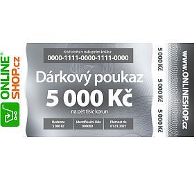 On-line dárkový poukaz vhodnotě 5000 Kč