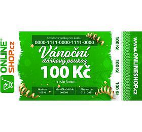 Vánoční on-line poukaz vhodnotě 100 Kč