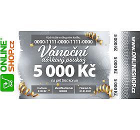 Vánoční on-line poukaz vhodnotě 5000 Kč