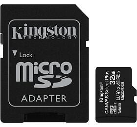 KINGSTON Canvas Select Plus 32GB microSD /UHS-I /CL10 /vč. SDadaptéru