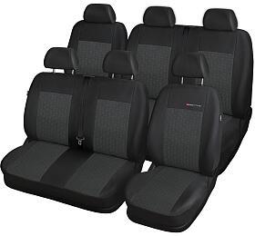 Autopotahy Volkswagen T5, 6míst, 1+2,2+1 odr. 2003 -2015, šedo černé SIXTOL