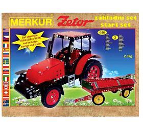 Stavebnice MERKUR Zetor základní set 646ks 3vrstvy vkrabici 36x27x8,5cm