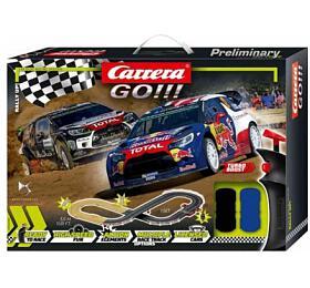 Autodráha Carrera GO!!! 62496 Rally up! 3,6m +2 auta vkrabici 58x40x8cm