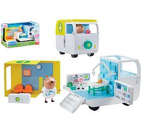 Lékařská pojízdná ordinace plast Prasátko Peppa/Peppa Pig sdoplňky vkrabici 38x23x21cm