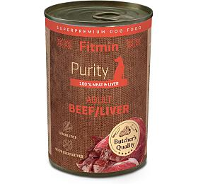 Fitmin dog Purity tin beef with liver 400g