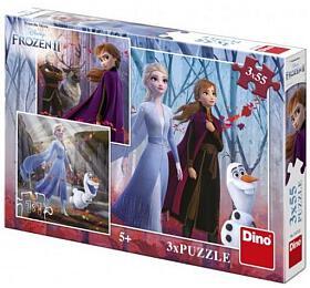 Puzzle Frozen/Ledové království IIDino 3x 55dílků
